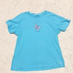 Life is good butterfly T-shirt
